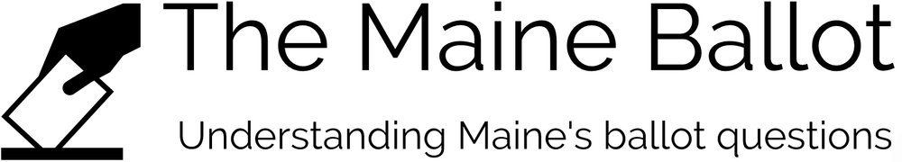 The Maine Ballot, Understanding Maine's Ballot Questions with hand submitting a ballot